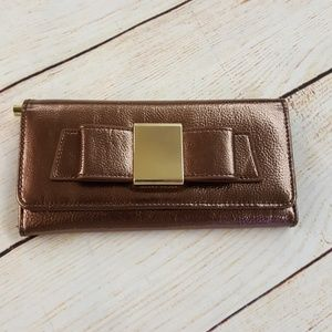 Ivanka Trump Bow Wallet Bronze